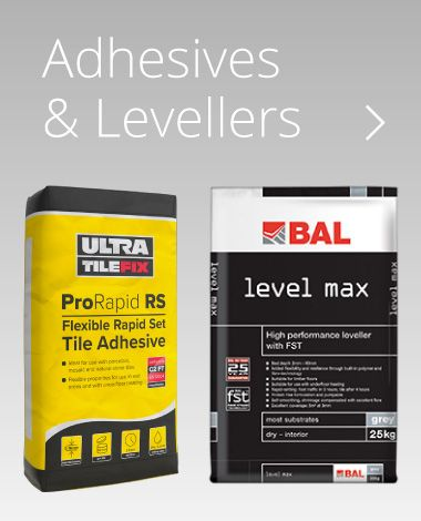 We stock a full range of Tile Adhesives and Levelling Compounds